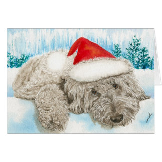 Christmas Labradoodle Greeting Card