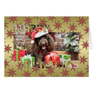 Christmas - LabraDoodle - Harley Greeting Card