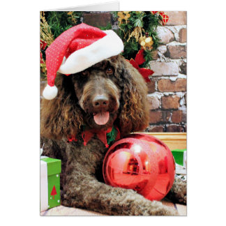 Christmas - LabraDoodle - Harley Greeting Card