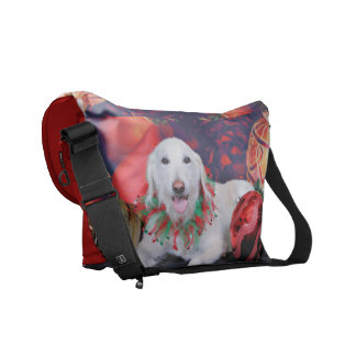 Christmas - LabraDoodle - Izzy Courier Bag