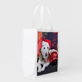 Christmas - LabraDoodle - Izzy Grocery Bag