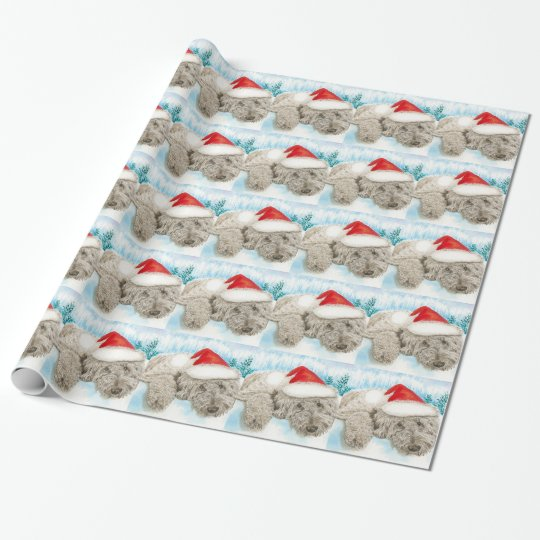 Christmas Labradoodle Wrapping Paper
