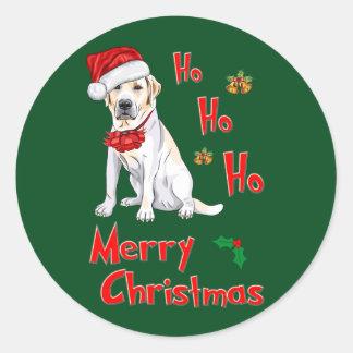 Christmas Labrador Classic Round Sticker