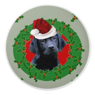 Christmas Labrador Dog Ceramic Knob