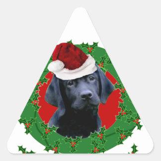 Christmas Labrador dog Triangle Sticker