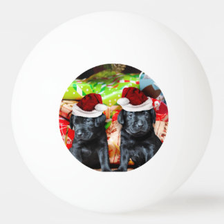 Christmas Labrador dogs Ping Pong Ball