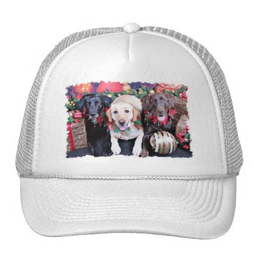 Christmas - Labrador - Dude Jag and Mocha Hats