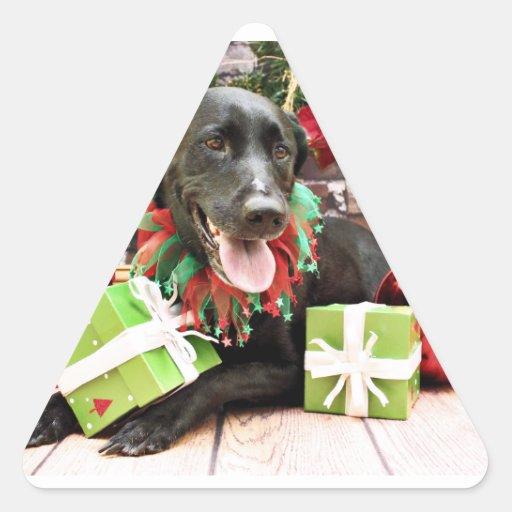 Christmas - Labrador - Gracie Stickers