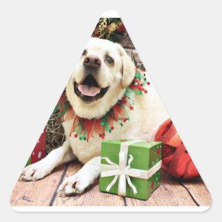 Christmas - Labrador - Jeb Triangle Sticker