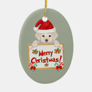 Christmas Labrador Puppy! For Puppy Lovers! Christmas Ornament