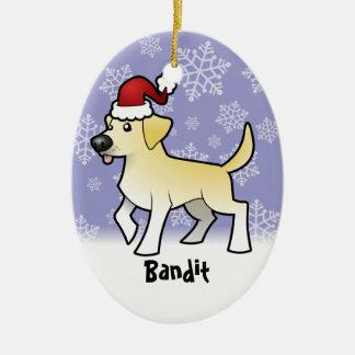 Christmas Labrador Retriever (add pets name) Christmas Ornament