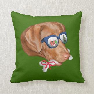 Christmas, Labrador Retriever Dog Cushion