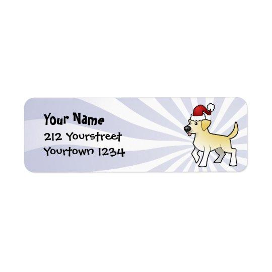 Christmas Labrador Retriever Return Address Label