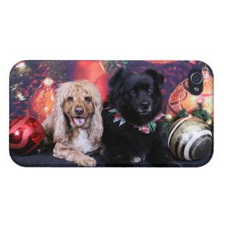 Christmas - Labrador X Cheyanne Cocker X Sundanc iPhone 4/4S Cases