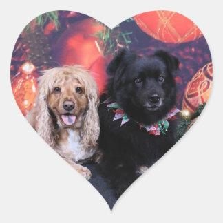 Christmas - Labrador X Cheyanne  Cocker X Sundance Heart Sticker