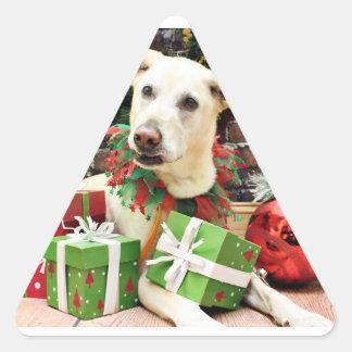 Christmas - Labrador X - Max Triangle Stickers