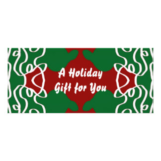 Christmas Lace Pattern Customised Rack Card