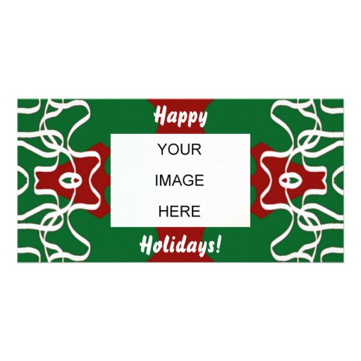 Christmas Lace Pattern Photo Greeting Card