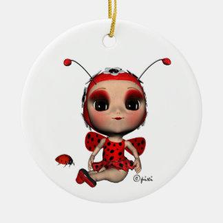 Christmas Ladybug Ornament
