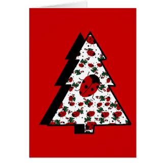 Christmas Ladybug Tree Card