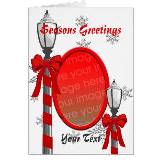 Christmas Lamp Post Photo Frame Greeting Card 3