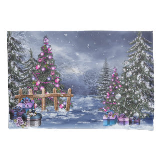 Christmas Landscape (2 sides) Pillowcase