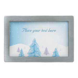 Christmas Landscape Belt Buckles