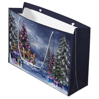 Christmas Landscape Large Gift Bag