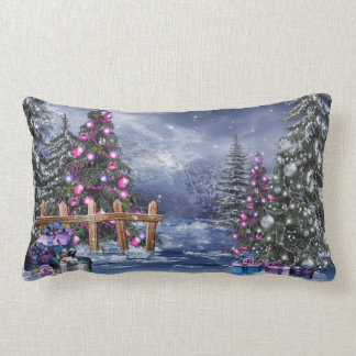 Christmas Landscape Lumbar Pillow
