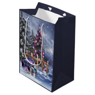 Christmas Landscape Medium Gift Bag