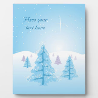 Christmas Landscape Plaque