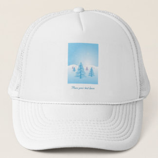 Christmas Landscape Trucker Hat