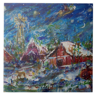 Christmas Large Square Tile
