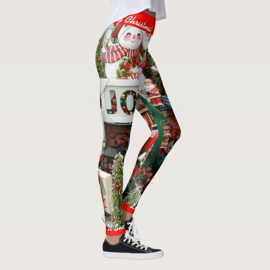 Christmas Leggings Personalise Let It Snow! S XL