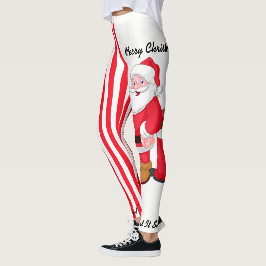 Christmas Leggings Santa Personalise S - XL