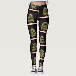 Christmas Leggings with Christmas Trees