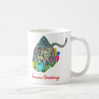 Christmas Lemur Basic White Mug