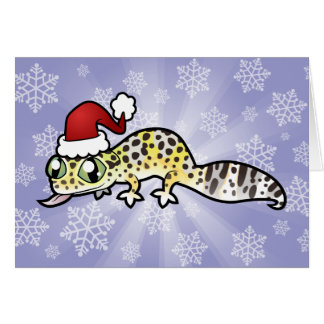 Christmas Leopard Gecko Greeting Card