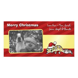 Christmas Leopard Gecko Custom Photo Card