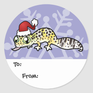 Christmas Leopard Gecko Gift Tags