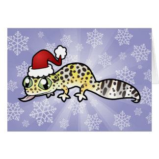 Christmas Leopard Gecko Greeting Card