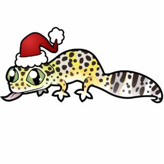Christmas Leopard Gecko Photo Sculpture Decoration
