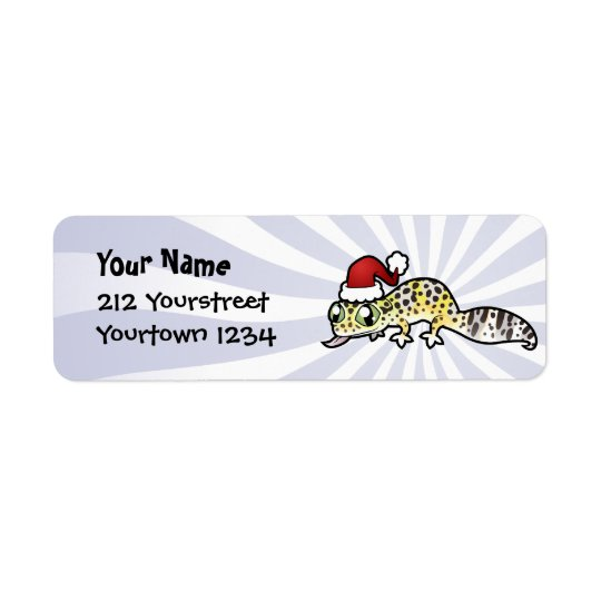 Christmas Leopard Gecko Return Address Label