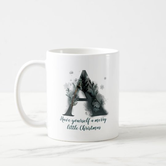 Christmas Letter A Alphabet Coffee Mug