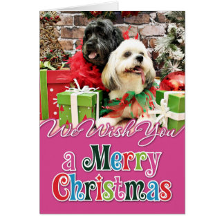 Christmas - Lhasa Apso - Clover and Pixie Card