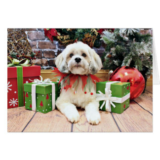 Christmas - Lhasa Apso - Muffie Card