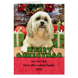 Christmas - Lhasa Apso - Solo Card