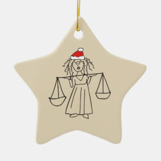 Christmas Libra Astrology Sign Red Star Beautiful Christmas Ornament