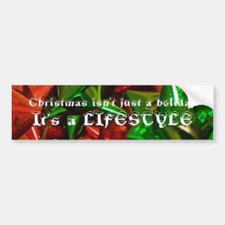 Christmas lifestyle bumper sticker