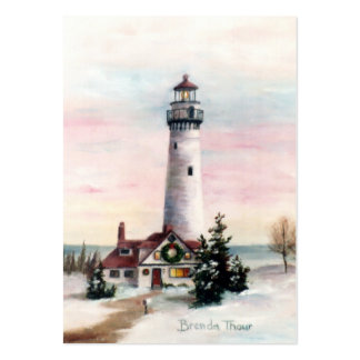 Christmas Light Art Card Business Cards